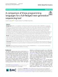 A comparison of three programming languages for a full-fledged next-generation sequencing tool
