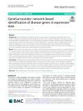 GeneSurrounder: Network-based identification of disease genes in expression data