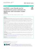 PwrEWAS: A user-friendly tool for comprehensive power estimation for epigenome wide association studies (EWAS)