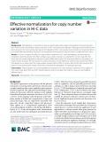 Effective normalization for copy number variation in Hi-C data