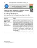 Sức khoẻ, an toàn nghề nghiệp trong khai thác khoáng sản: Tổng quan thực trạng và khuyến nghị