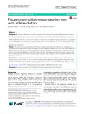 Progressive multiple sequence alignment with indel evolution