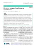 PQ, a new program for phylogeny reconstruction