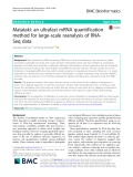 Matataki: An ultrafast mRNA quantification method for large-scale reanalysis of RNASeq data