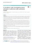 A simulation study investigating power estimates in phenome-wide association studies
