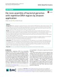 De novo assembly of bacterial genomes with repetitive DNA regions by dnaasm application