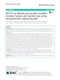 HGT-ID: An efficient and sensitive workflow to detect human-viral insertion sites using next-generation sequencing data