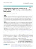 Inferring RNA sequence preferences for poorly studied RNA-binding proteins based on co-evolution