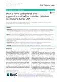 TNER: A novel background error suppression method for mutation detection in circulating tumor DNA