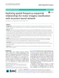 Exploring spatial-frequency-sequential relationships for motor imagery classification with recurrent neural network