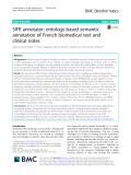 SIFR annotator: Ontology-based semantic annotation of French biomedical text and clinical notes