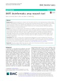 BART: Bioinformatics array research tool