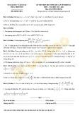 Đề thi học sinh giỏi cấp tỉnh môn Toán lớp 12 năm 2019-2020 – Sở Giáo dục và Đào tạo Thừa Thiên Huế (Đề chính thức)