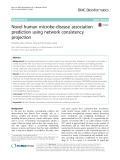 Novel human microbe-disease association prediction using network consistency projection
