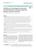 BoolFilter: An R package for estimation and identification of partially-observed Boolean dynamical systems