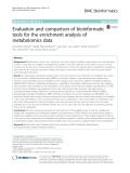 Evaluation and comparison of bioinformatic tools for the enrichment analysis of metabolomics data