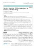 Cache and energy efficient algorithms for Nussinov's RNA Folding