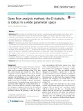 Gene flow analysis method, the D-statistic, is robust in a wide parameter space