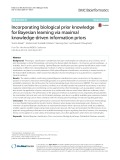 Incorporating biological prior knowledge for Bayesian learning via maximal knowledge-driven information priors