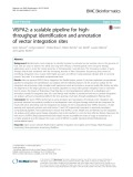 VISPA2: A scalable pipeline for highthroughput identification and annotation of vector integration sites