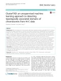 ClusterTAD: An unsupervised machine learning approach to detecting topologically associated domains of chromosomes from Hi-C data