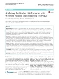 Analyzing the field of bioinformatics with the multi-faceted topic modeling technique