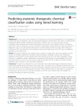 Predicting anatomic therapeutic chemical classification codes using tiered learning