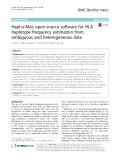 Hapl-o-Mat: Open-source software for HLA haplotype frequency estimation from ambiguous and heterogeneous data