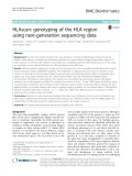 HLAscan: Genotyping of the HLA region using next-generation sequencing data