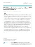 PFASUM: A substitution matrix from Pfam structural alignments
