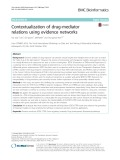 Contextualization of drug-mediator relations using evidence networks