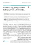 A systematic evaluation of nucleotide properties for CRISPR sgRNA design