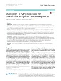 Quantiprot - a Python package for quantitative analysis of protein sequences