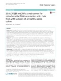 SG-ADVISER mtDNA: A web server for mitochondrial DNA annotation with data from 200 samples of a healthy aging cohort