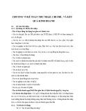 Bài giảng Kế toán ngân hàng - Chương 5: Kế toán thu nhập, chi phí, và kết quả kinh doanh