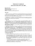 Tính toán và thiết kế dầm chuyển bê tông cốt thép