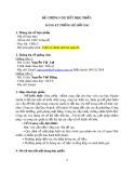 Đề cương chi tiết học phần: Đăng ký thống kê đất đai