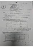 Đề thi kết thúc học phần học kỳ môn Mô hình toán kinh tế - ĐH Ngân hàng TP.HCM