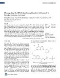 Phương pháp Rp-HPLC định lượng đồng thời Salbutamol và Bromhexin trong si-rô thuốc