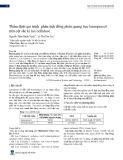 Thẩm định qui trình phân tích đồng phân quang học lansoprazol trên cột sắc kí lux cellulose