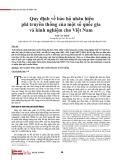 Quy định về bảo hộ nhãn hiệu phi truyền thống của một số quốc gia và kinh nghiệm cho Việt Nam