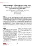 Đánh giá kháng nguyên tái tổ hợp Hemolysin co-regulated protein 1 (hcp1) trong chẩn đoán nhanh bệnh nhân nhiễm melioidosis (bệnh Whitmore) bằng kỹ thuật ELISA