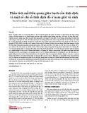 Phân tích mối liên quan giữa bạch cầu tinh dịch và một số chỉ số tinh dịch đồ ở nam giới vô sinh