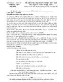 Đề thi học kì 1 môn Ngữ văn 12 năm 2019-2020 có đáp án - Trường THPT Đức Huệ