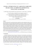 Global optimization of laminated composite beams using an improved differential evolution algorithm