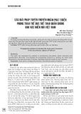 Các giải pháp tuyên truyền nhằm phát triển phong trào thể dục thể thao quần chúng khu vực miền núi Việt Nam