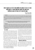 Thực trạng các yếu tố ảnh hưởng tới công tác dạy và học môn Quản lý hành chính nhà nước của sinh viên trường Đại học Thể dục Thể thao Bắc Ninh