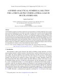 A hybrid analytical-numerical solution for a circular pile under lateral load in multilayered soil