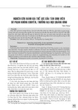 Nghiên cứu đánh giá thể lực của tân sinh viên sư phạm không chuyên, trường Đại học Quảng Bình
