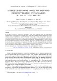 A three-dimensional model for rain-wind induced vibration of stay cables in cable-stayed bridges